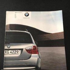 Voitures et Motocyclettes: FOLLETO CATALOGO PUBLICIDAD ORIGINAL BMW SERIE 3 TOURING DE 2006. Lote 56912975