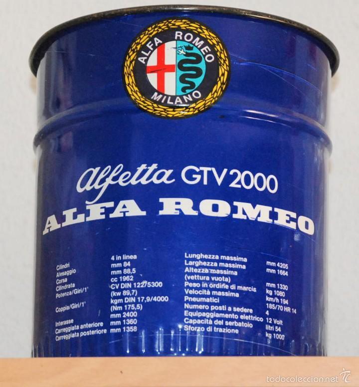 Cubo De Lata Publicidad Alfetta Gtv 2000 Alfa R