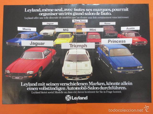PUBLICIDAD 1976 - COLECCION COCHES - GAMA LEYLAND MINI JAGUAR TRIUMPH - ALFA ROMEO GT (Coches y Motocicletas Antiguas y Clásicas - Catálogos, Publicidad y Libros de mecánica)