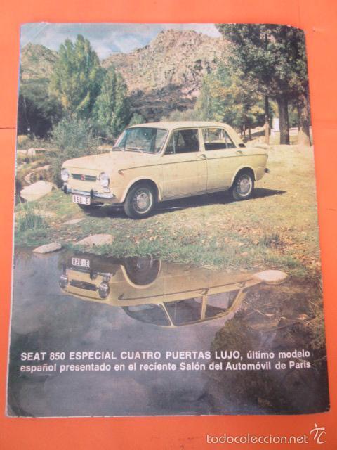 PUBLICIDAD 1971 - COLECCION COCHES - SEAT 850 ESPECIAL CUATRO PUERTAS (Coches y Motocicletas Antiguas y Clásicas - Catálogos, Publicidad y Libros de mecánica)