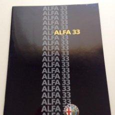 Coches y Motocicletas: CATALOGO ALFA ROMEO 33.. Lote 57030603