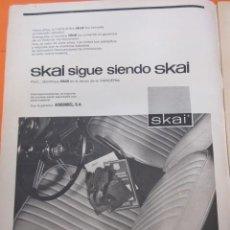 Coches y Motocicletas: PUBLICIDAD 1970 - COLECCION COCHES - SKAI TAPICERIA PARA COCHES . Lote 57071938