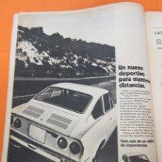 Coches y Motocicletas: PUBLICIDAD 1970 - COLECCION COCHES - SEAT 850 SPORT COUPE. Lote 57071955