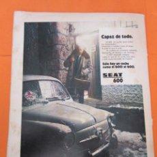 Coches y Motocicletas: PUBLICIDAD 1972 - COLECCION COCHES - SEAT 600 FAMOSO ANUNCIO DEL MEDICO. Lote 57072366