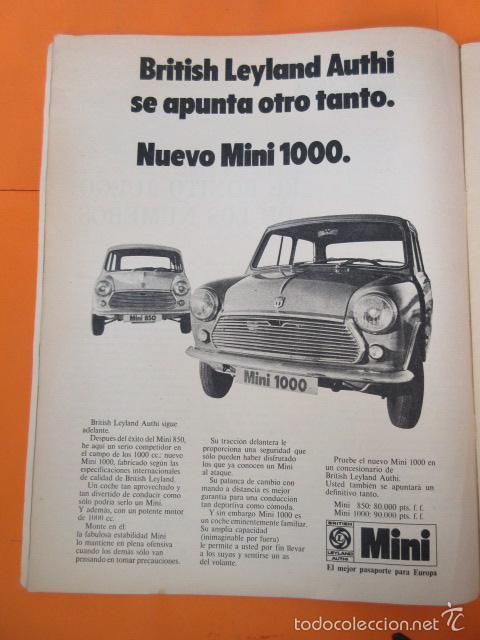PUBLICIDAD 1970 - COLECCION COCHES - NUEVO MINI 1000 (Coches y Motocicletas Antiguas y Clásicas - Catálogos, Publicidad y Libros de mecánica)