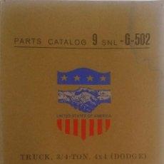 Coches y Motocicletas: CATÁLOGO DE PIEZAS DODGE TRUCK, 3/4 TON, 4X4. MODEL T-214.. Lote 57108792