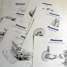Coches y Motocicletas: LOTE FOTOS DE PRENSA OFICIALES - 8 GRÁFICOS FIAT CINQUECENTO.. Lote 57235532