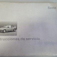 Coches y Motocicletas: MANUAL DE USUARIO Y INSTRUCCIONES DE SERVICIO DEL BMW - SERIE 3 - 316 I COMPACT -. Lote 57235972