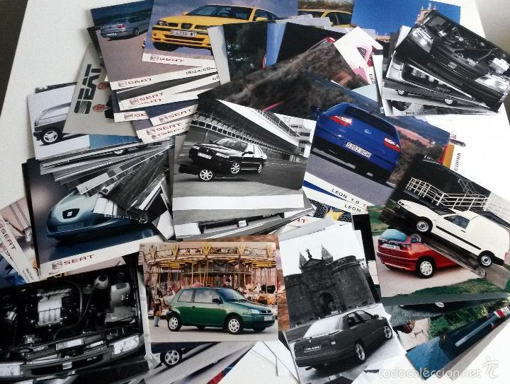 LOTE FOTOS DE PRENSA OFICIALES - 142 FOTOS SEAT. (Coches y Motocicletas Antiguas y Clásicas - Catálogos, Publicidad y Libros de mecánica)