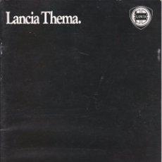 Coches y Motocicletas: CATALOGO LANCIA THEMA (1985). Lote 57278209