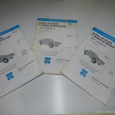 Coches y Motocicletas: (M) CHRYSLER 180 , 2 LITORS Y CHRYSLER 160 DIESEL 1979, 3 CATALOGOS MANUAL DE TALLER Y REPARACION . Lote 57306147