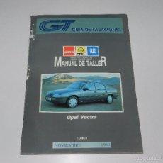 Coches y Motocicletas: (M) OPEL VECTRA MANUAL DE TALLER , GUIA DE TRASACIONES, NOVIEMBRE 1990 , ILUSTRADO,. Lote 57308739