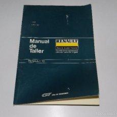 Coches y Motocicletas: (M) RENAULT 18 MANUAL DE TALLER , GUIA DE TRASACIONES, JUNIO 1986 , ILUSTRADO, 2 TOMOS. Lote 57309636