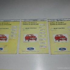 Coches y Motocicletas: (M) FORD ESCORT MANUAL DE TALLER , GUIA DE TRASACIONES, ABRIL 1982 , ILUSTRADO , 3 TOMOS. Lote 57327708
