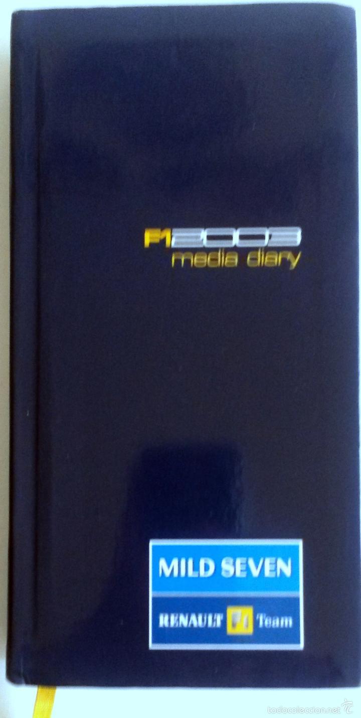 AGENDA PERIODISTA OFICIAL MILD SEVEN - RENAULT F1 TEAM - 2003. (Coches y Motocicletas Antiguas y Clásicas - Catálogos, Publicidad y Libros de mecánica)