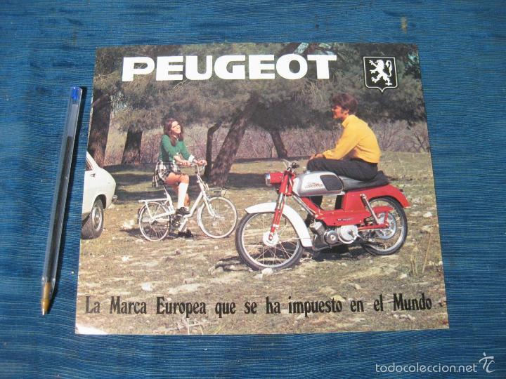 HOJA CATALOGO DE CICLOMOTORES PEUGEOT MOVESA CON CARACTERISTICAS (Coches y Motocicletas Antiguas y Clásicas - Catálogos, Publicidad y Libros de mecánica)