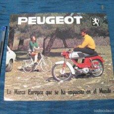 Coches y Motocicletas: HOJA CATALOGO DE CICLOMOTORES PEUGEOT MOVESA CON CARACTERISTICAS. Lote 57359289
