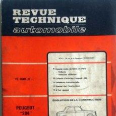 Coches y Motocicletas: REVUE TECHNIQUE Nº 271 - NOVIEMBRE 1968.. Lote 57379637
