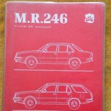 Coches y Motocicletas: RENAULT 18, MANUAL DE REPARACIÓN M.R. 246. MECÁNICA. OCTUBRE DE 1983.. Lote 57382021