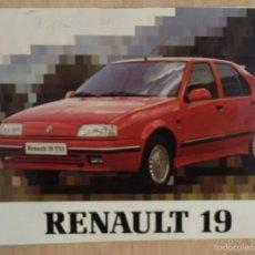 Coches y Motocicletas: RENAULT 19 - 1991 - TODA LA GAMA - MANUAL INSTRUCCIONES USUARIO, TEXTO EN ESPAÑOL. Lote 57385284