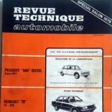 Coches y Motocicletas: REVUE TECHNIQUE Nº 382 - OCTUBRE 1978. . Lote 57438508