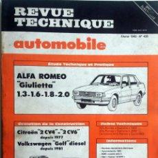 Coches y Motocicletas: REVUE TECHNIQUE Nº 430 - FEBRERO 1983. . Lote 57439019