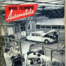 Coches y Motocicletas: REVUE TECHNIQUE ESPECIAL EQUIPAMIENTO TALLER REPARACIONES 1956. . Lote 57572403