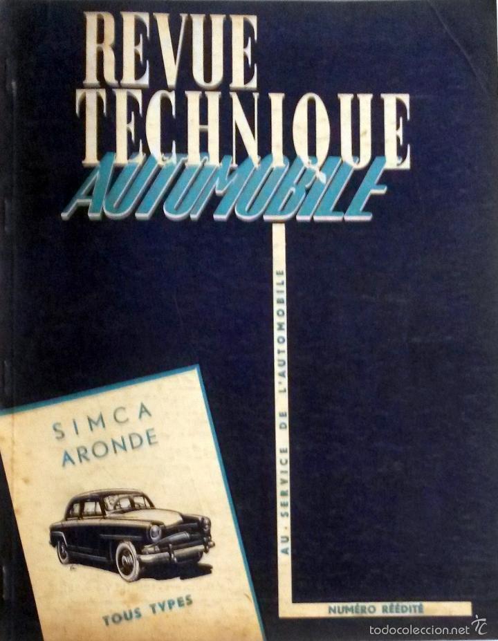 REVUE TECHNIQUE REEDICION ESPECIAL 1956. (Coches y Motocicletas Antiguas y Clásicas - Catálogos, Publicidad y Libros de mecánica)