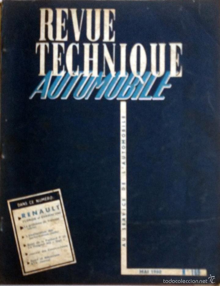 REVUE TECHNIQUE Nº 169 MAYO 1960. (Coches y Motocicletas Antiguas y Clásicas - Catálogos, Publicidad y Libros de mecánica)