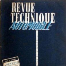 Coches y Motocicletas: REVUE TECHNIQUE Nº 169 MAYO 1960. . Lote 57619755