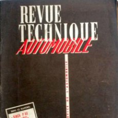 Coches y Motocicletas: REVUE TECHNIQUE Nº 165 ENERO 1960. . Lote 57626076