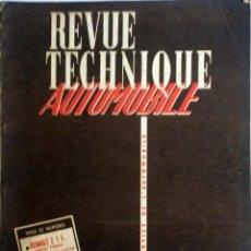 Coches y Motocicletas: REVUE TECHNIQUE Nº 141 ENERO 1958. . Lote 57626173