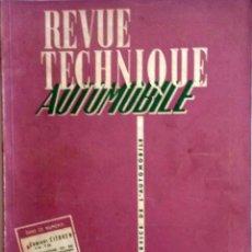 Coches y Motocicletas: REVUE TECHNIQUE Nº 122 JUNIO 1956. . Lote 57626269