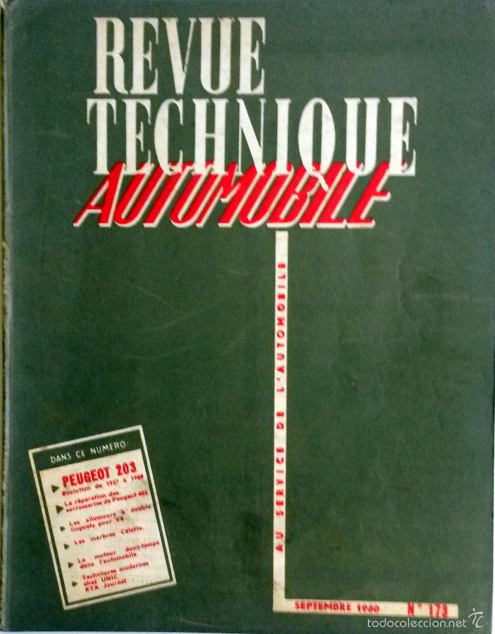 REVUE TECHNIQUE Nº 173 SEPTIEMBRE 1960. . (Coches y Motocicletas Antiguas y Clásicas - Catálogos, Publicidad y Libros de mecánica)