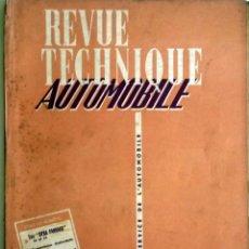 Coches y Motocicletas: REVUE TECHNIQUE Nº 128 DICIEMBRE 1956. . Lote 57626484