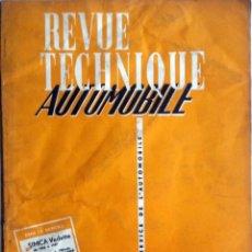 Coches y Motocicletas: REVUE TECHNIQUE Nº 143 MARZO 1958. . Lote 57626520