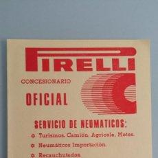 Coches y Motocicletas: FOLLETO PUBLICITARIO PIRELLI AÑOS 90. Lote 57632143