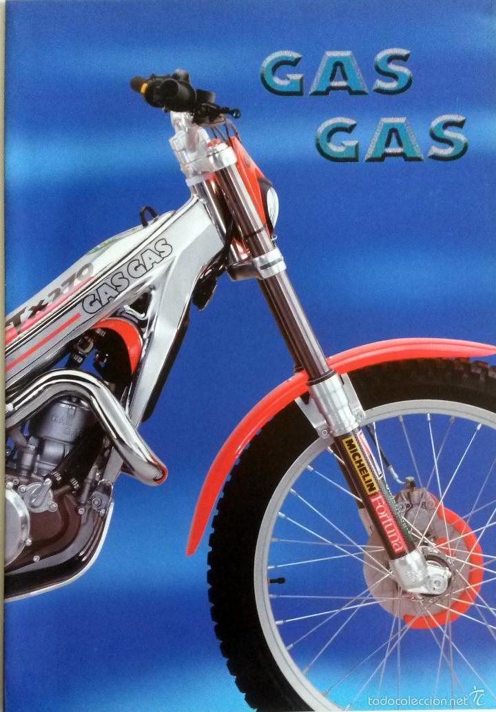 CATÁLOGO-PÓSTER GAS GAS.TX 320 - TX 250 - TX 200 - TX 125. (Coches y Motocicletas Antiguas y Clásicas - Catálogos, Publicidad y Libros de mecánica)