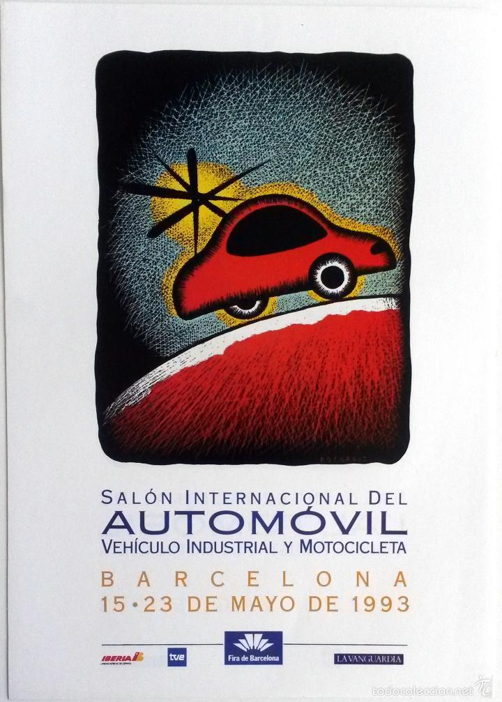 PÓSTER SALÓN DEL AUTOMÓVIL BARCELONA 1993. (Coches y Motocicletas Antiguas y Clásicas - Catálogos, Publicidad y Libros de mecánica)