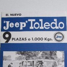 Coches y Motocicletas: JEEP TOLEDO VIASA - FOLLETO CATALOGO COMO NUEVO. Lote 66760025