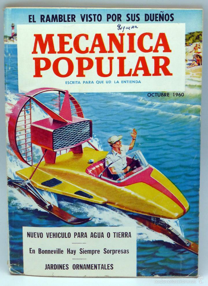 MECÁNICA POPULAR REVISTA Nº 4 VOL 27 OCTUBRE 1960 RAMBLER VEHÍCULO AGUA TIERRA JARDINES ORNAMENTALES (Coches y Motocicletas Antiguas y Clásicas - Catálogos, Publicidad y Libros de mecánica)