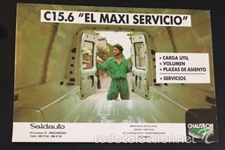 FOLLETO CATALOGO PUBLICIDAD ORIGINAL CITROEN C15.6 C 15 SEIS PUERTAS (Coches y Motocicletas Antiguas y Clásicas - Catálogos, Publicidad y Libros de mecánica)