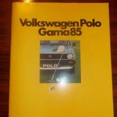 Coches y Motocicletas: CATALOGO VOLKSWAGEN POLO GAMA 85. Lote 57764243