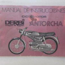 Coches y Motocicletas: DERBI ANTORCHA, CICLOMOTOR, MANUAL DE INSTRUCCIONES.. Lote 57801820