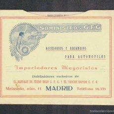 Coches y Motocicletas: SUMINISTROS G.F.G.ACCESORIOS Y RECAMBIOS PARA AUTOMOVILES.MADRID.KILOMETRADOR.. Lote 57855957