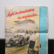 Coches y Motocicletas: CARTEL PLEGABLE DE NEUMATICOS CONTINENTAL.S.A.+ HOJILLA PUBLICITARIA.AÑOS 30-40.. Lote 57857868