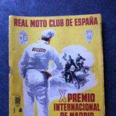 Coches y Motocicletas: PROGRAMA X PREMIO INTERNACIONAL DE MADRID, 9 MAYO 1954.. Lote 57873946