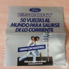 Coches y Motocicletas: CATÁLOGO PUBLICITARIO - FORD ESCORT 1982 - DESPLEGABLE DE GRAN TAMAÑO. Lote 56171264