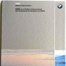 Coches y Motocicletas: DOSSIER DE PRENSA BMW - SALÓN INTERNACIONAL DE GINEBRA 2004. + DVD.. Lote 57957897