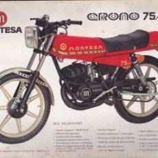Coches y Motocicletas - HOJA CATALOGO CON CARACTERISTICAS TECNICAS MONTESA CRONO 75/125 MEDIDAS 30X21 CMS. - 57965843